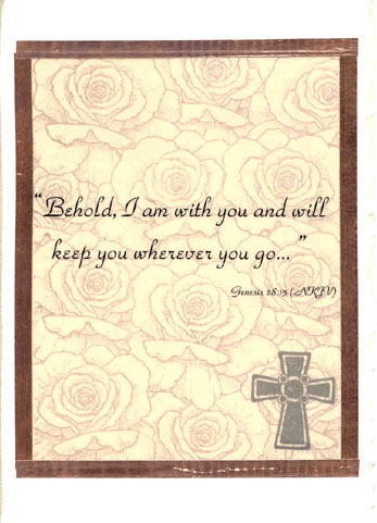 "bible verse printed on vellum over a stamped background and ""framed ..."